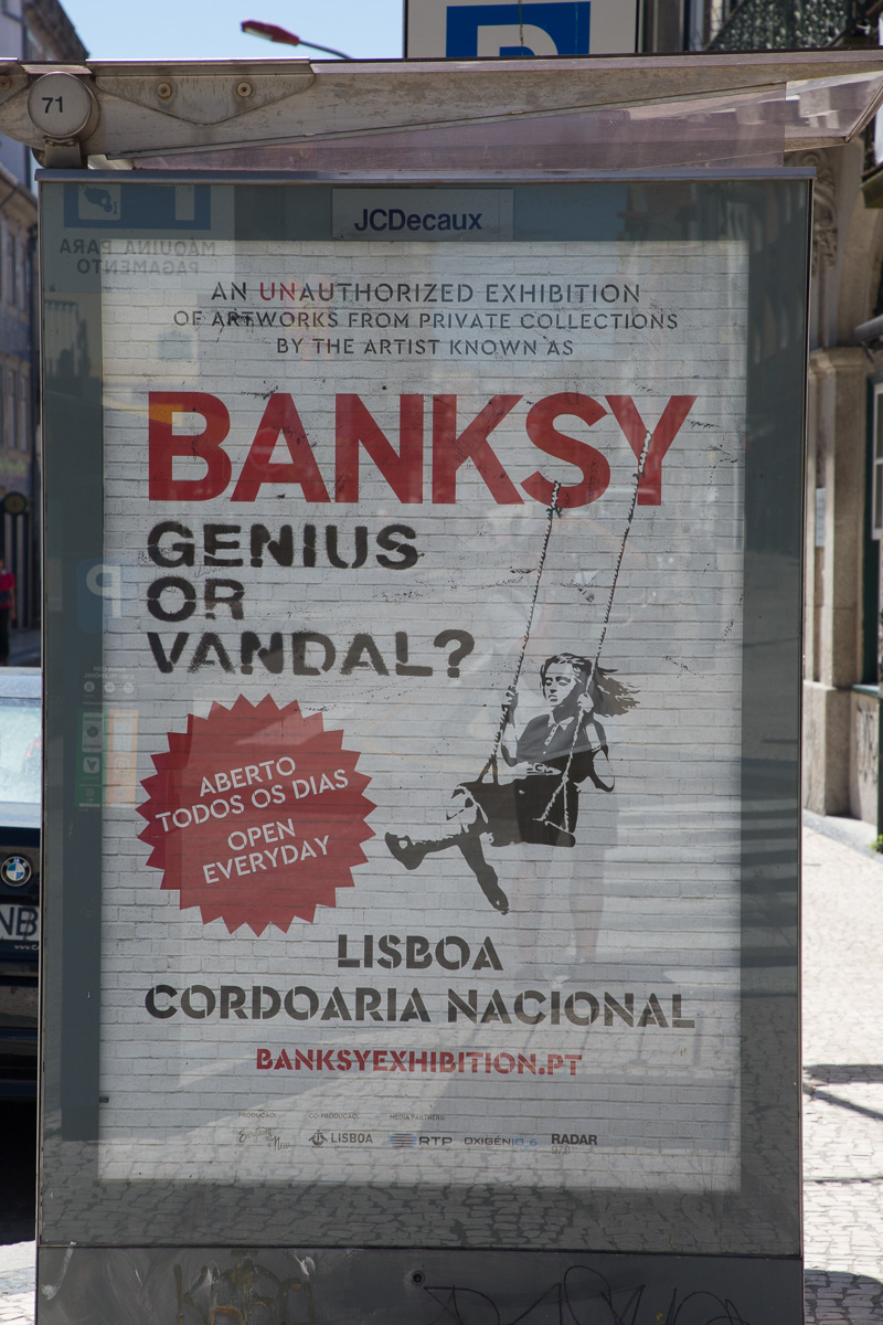 Banksy exhibit announcement seen in Porto - WCF-8739.jpg