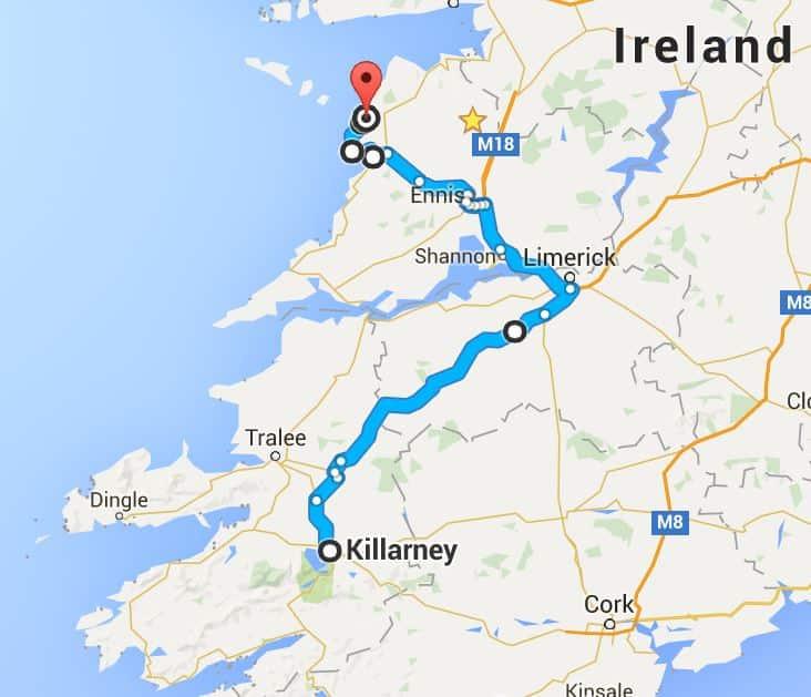 Killarney to Doolin