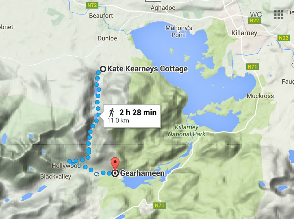 Gap of Dunloe map.