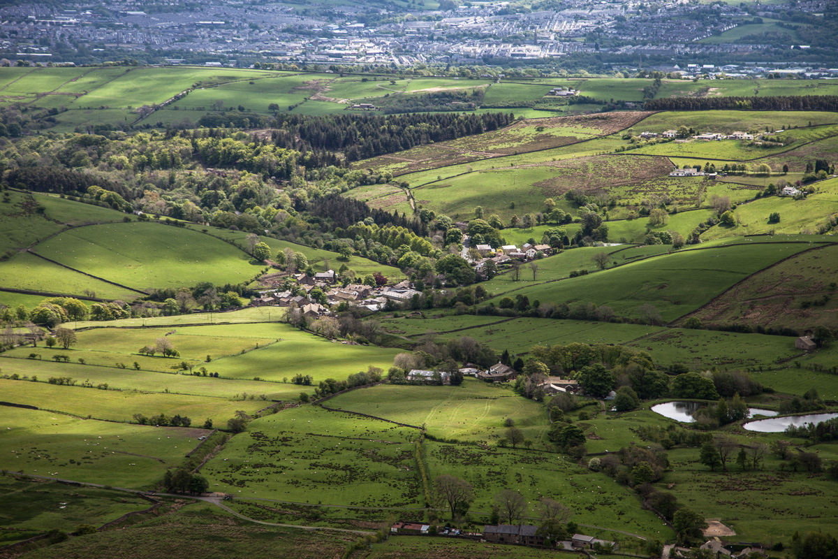 The village of Barley from atop Pendle Hill. - WCF-4185.jpg