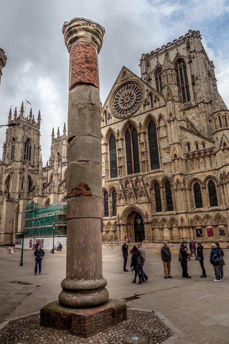 Roman Column discovered under the York Minster during repair excavations in 1969 - WCF-3714.jpg