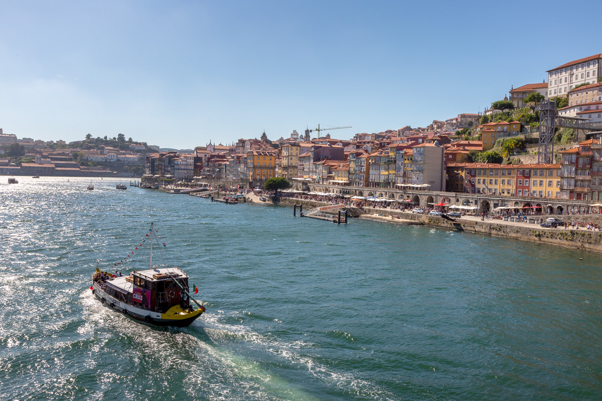 View of the Douro River and Porto from the Ponte Luís I bridge. - WCF-8702.jpg