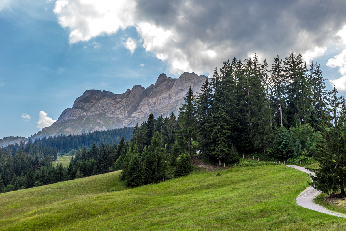 View from along the trail of Mount Pilatus, Switzerland