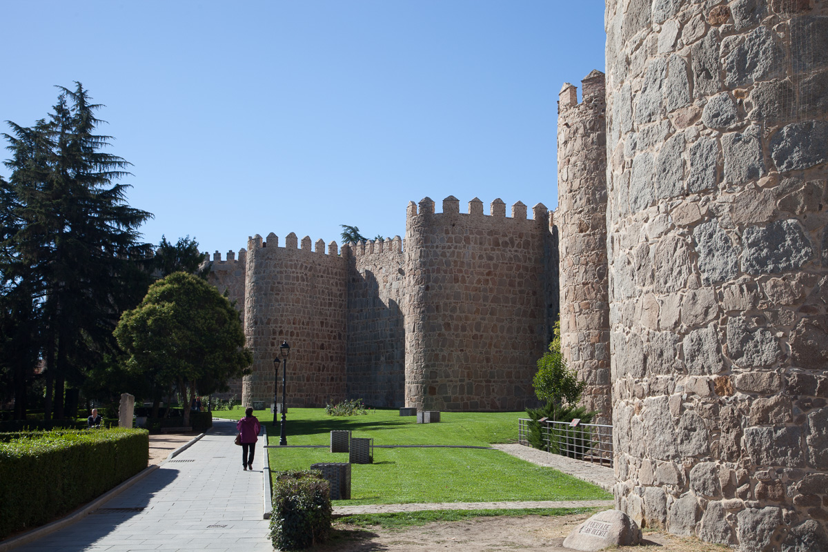 View of the Medieval walls of Ávila
