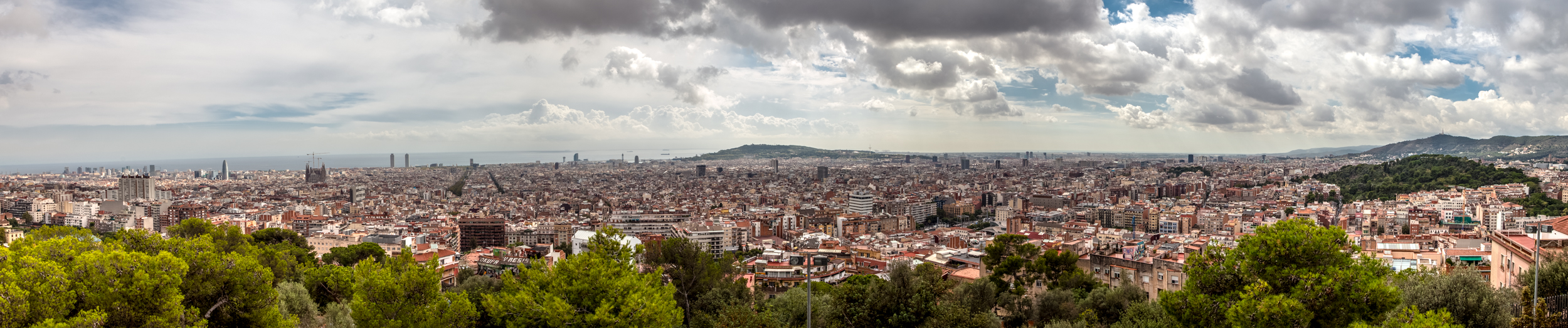 Panoramic view of part of Barcelona - 2487