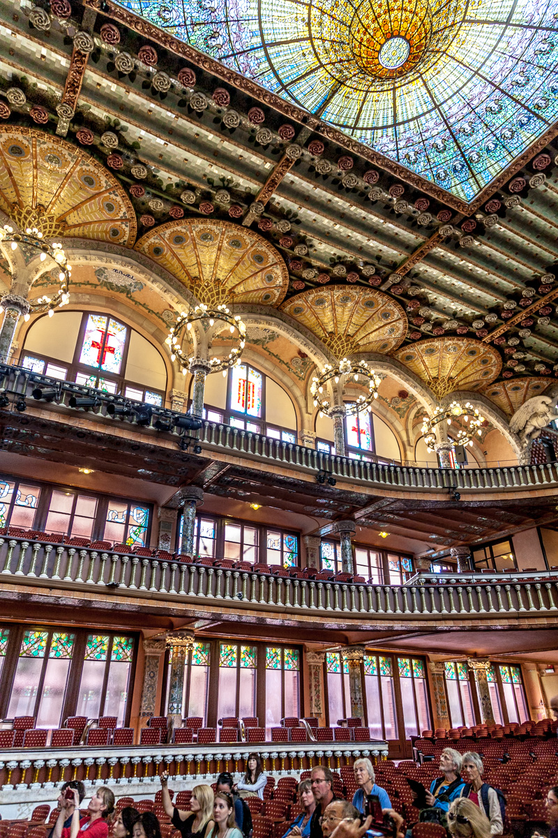 Interior of the Palau de la Música Catalana - 2965