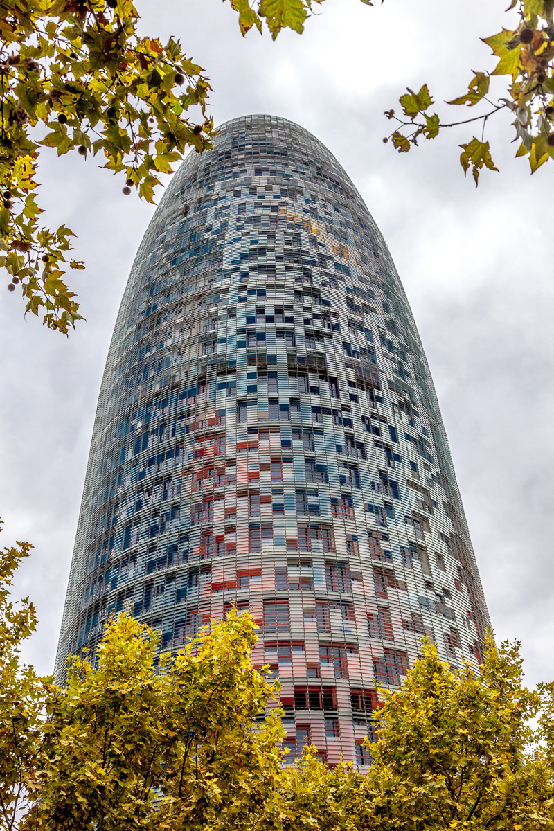 Torre Agbar a 38-story skyscraper / tower. 1784