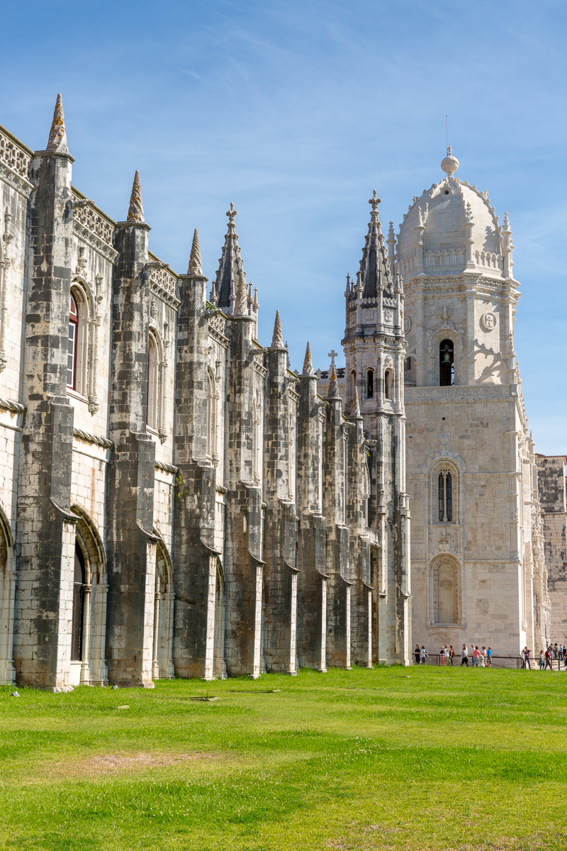 Mosteiro dos Jerónimos is a former monastery of the Order of Saint Jerome near the Tagus river in Belém. Construction began in 1501, and was completed 100 years later. BelemWCF-4858.jpg