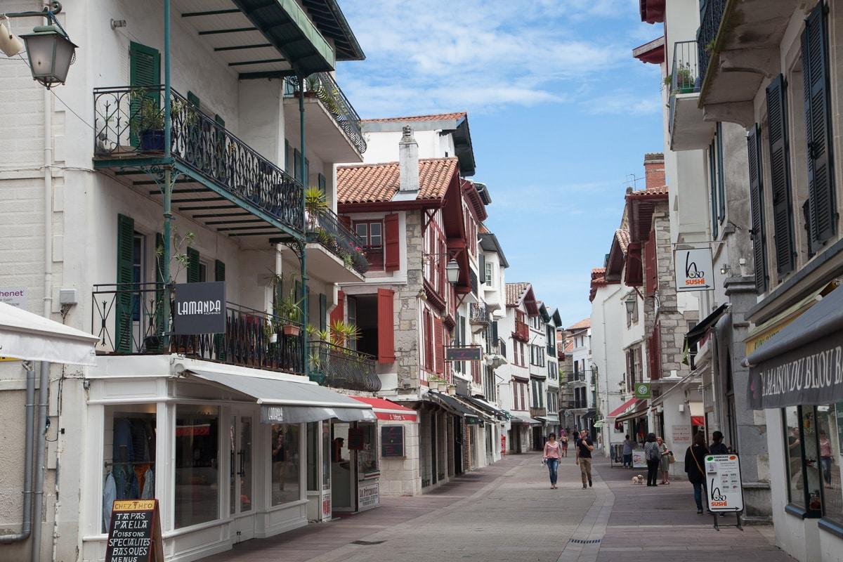 Looking down the main tourist street in Saint-Jean-de-Luz - WCF-0930.jpg