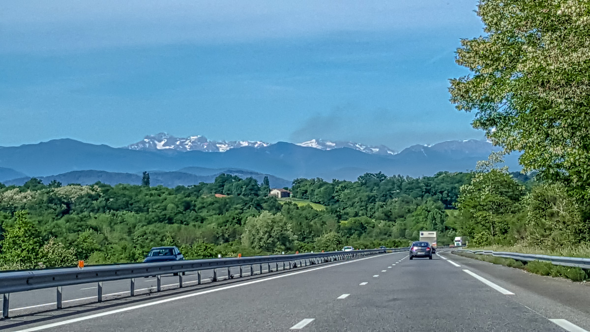 On the road - the Pyrenees in the distance - WCF-101854.jpg