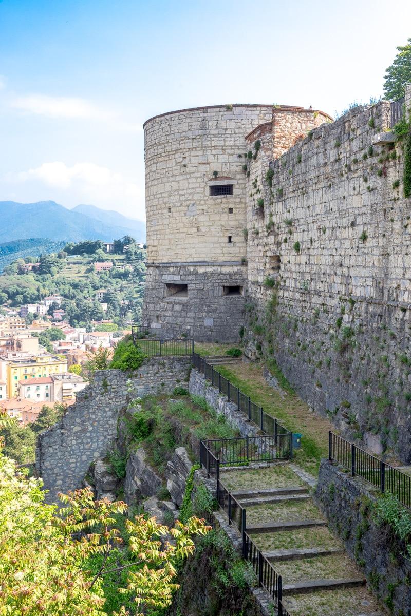 """Castle of Brescia, also known as Falcone d'Italia (""""Falcon of Italy""""). - WCF-4642.jpg"""