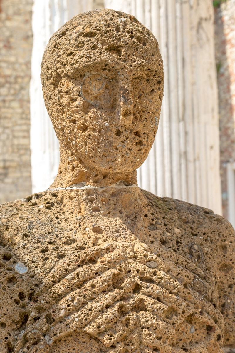 Contemporary tufa sculptures at the Capitolium of Brixia. - WCF-4762.jpg