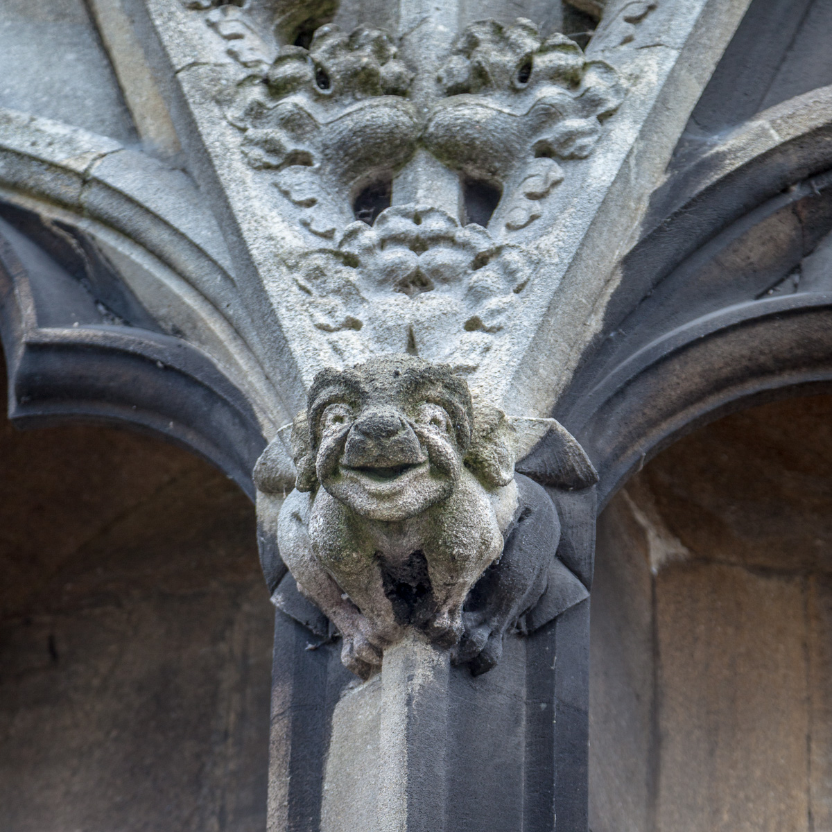 Grotesque on St. Mary Redcliffe, Bristol, England. - WCF-7187.jpg