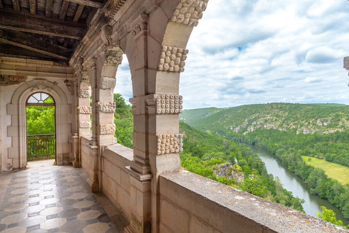 View from Château de Bruniquel renaissance-style gallery overlooking river Aveyron. - WCF-2475.jpg