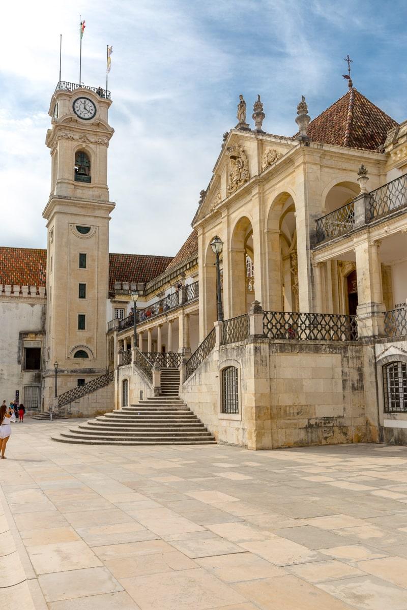 Torre da Universidade de Coimbra and the Paço das Escolas (Palace of the Schools), center of the University of Coimbra in Coimbra, Portugal. - WCF-3117.jpg