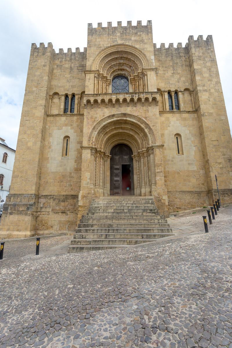 Romanesque Old Cathedral of Coimbra (Se Velha de Coimbra) 1146, cathedral distinguished by its fortress-like appearance & high, crenellated walls. - WCF-3402.jpg