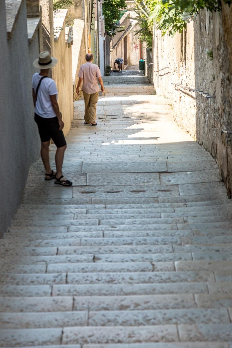 Stairs, lots of stairs in Mali Lošinj. - WCF-1125.jpg