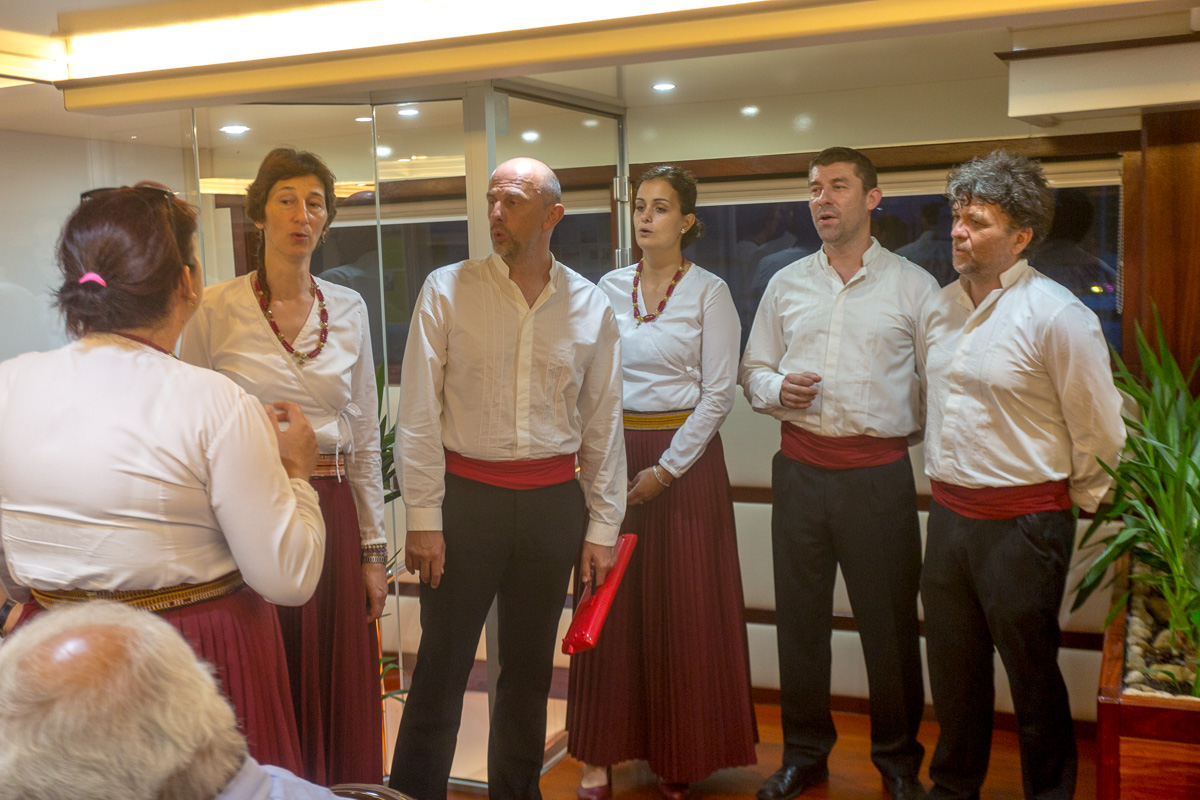 Entertainment for the Captain's dinner, a local choral group singing traditional Croatian folk songs a cappella. - WCF-2094.jpg