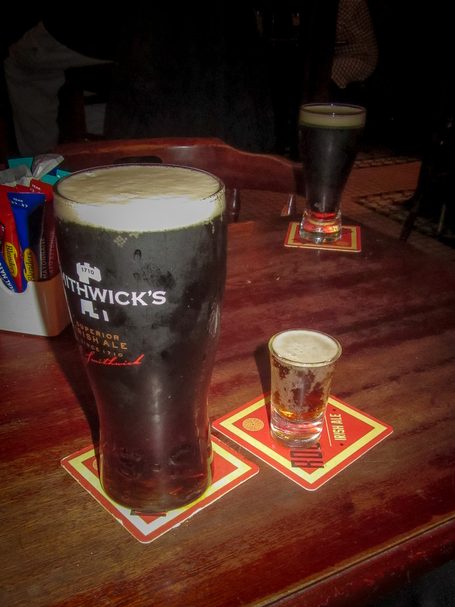 Chris's pint of Smithwick's beer, and Jeannie's. WCF-1564.jpg