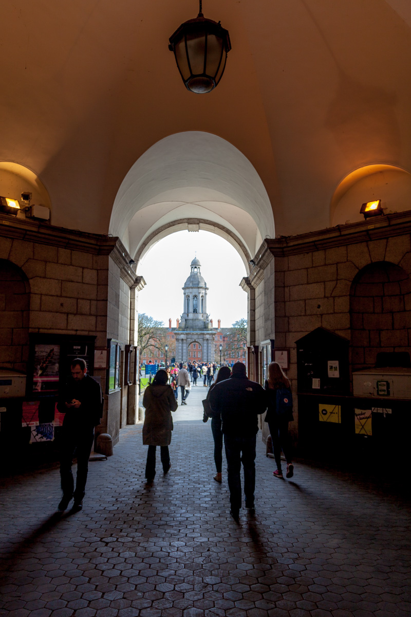Walking into the campus of Trinity College. WCF-6233.jpg