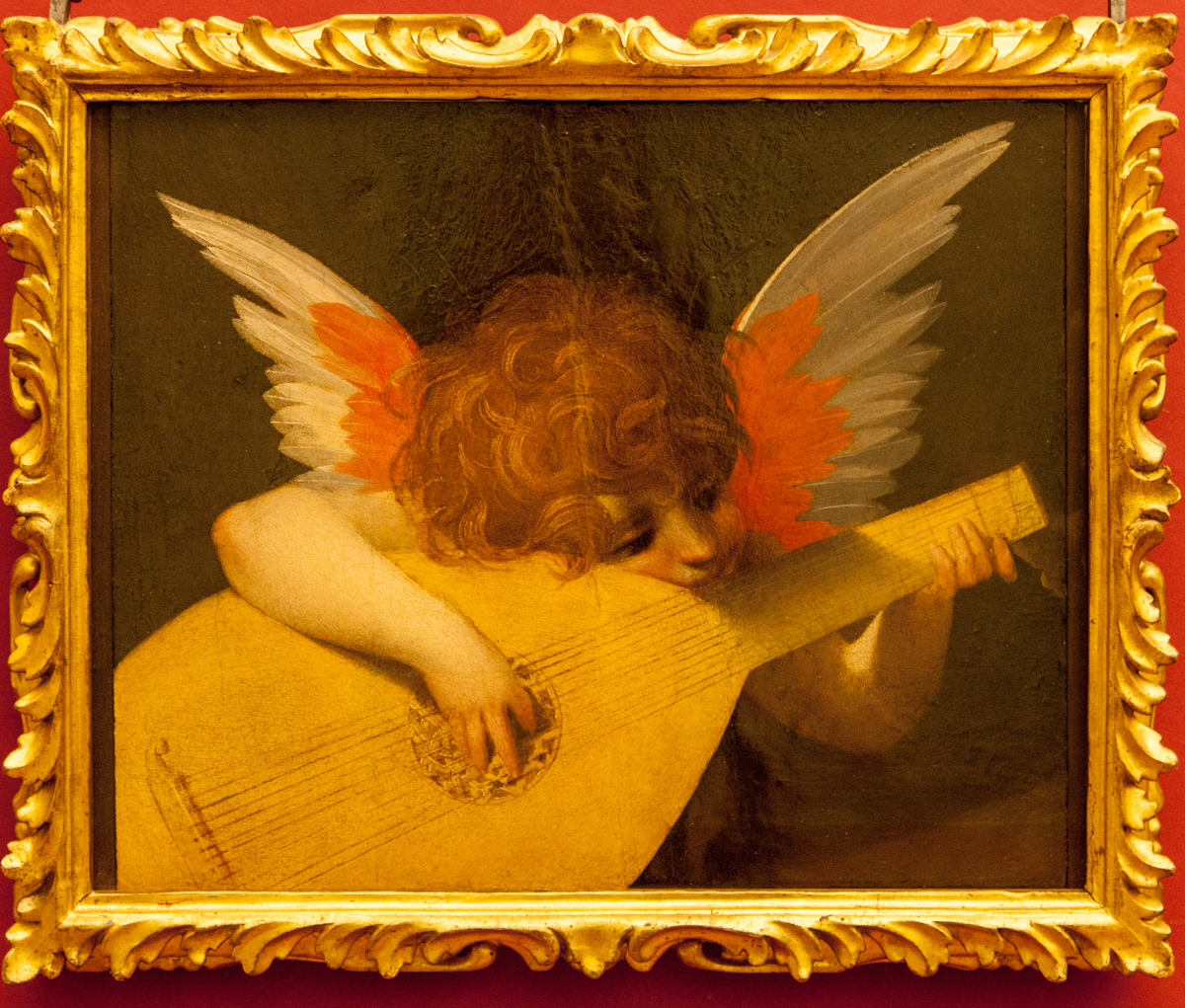 Musical Angel by Giovan Battista di Jacopo, Uffizi Gallery, Florence, Italy