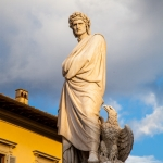 Statueof Dante in the Piazza di Santa Croche, Florence, Italy