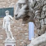 Sculptures in and arround the Piazza della Signoria and the Palazzo Vecchio, Florence, Italy