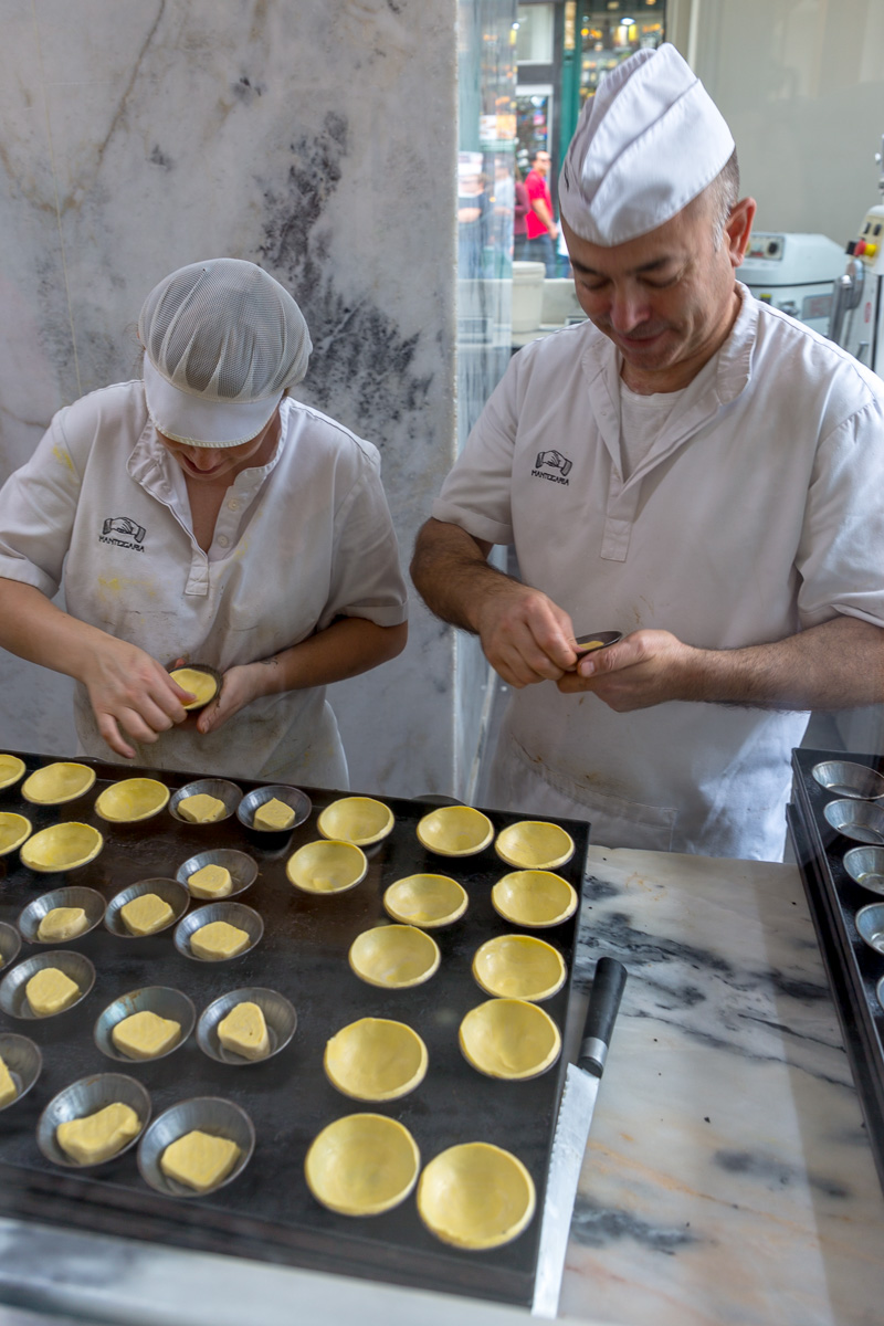 Every one handmade, Pastéis de Nata are a popular Portuguese item. - WCF-7918.jpg