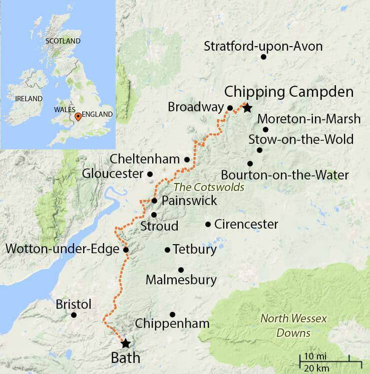 Cotswold Way location