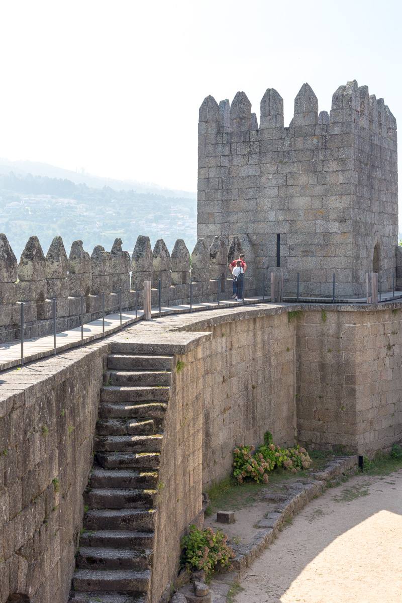 Castelo de Guimarães, a hilltop Romanesque castle, founded in the 1000s & thought to be the birthplace of Afonso Henriques. - WCF-0504.jpg