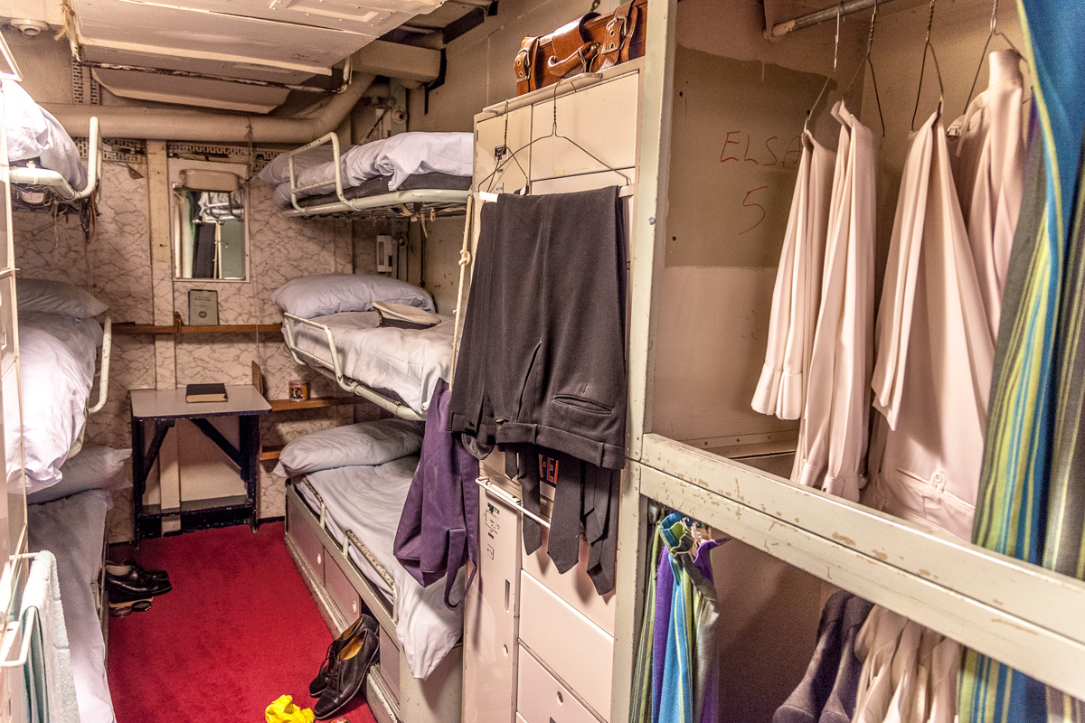 Some of the crew quarters aboard the Royal Yacht BritanniaWCF-5611.jpg