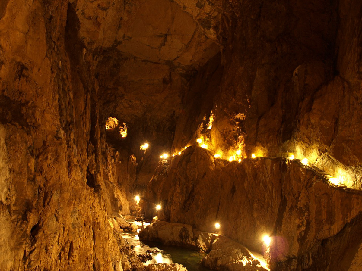 Public domain image of the Škocjan Caves.