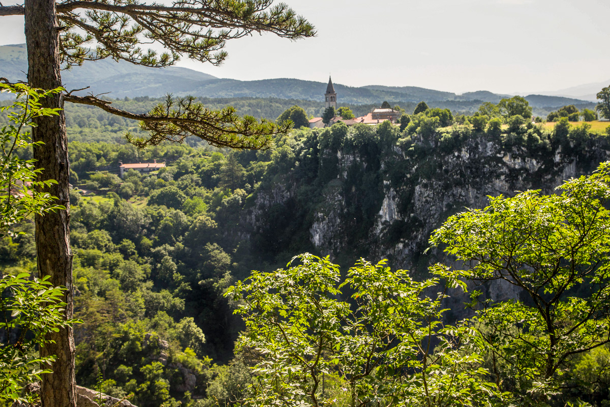 Slovenian karst region near the Škocjan Caves.
