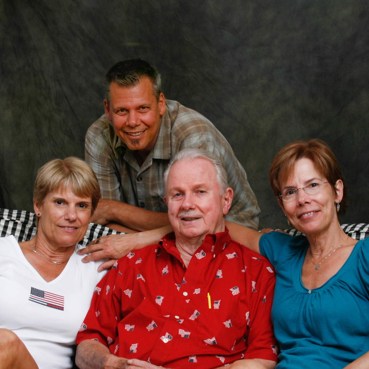 Janet, John, Jeannie and Gene (CW from left)