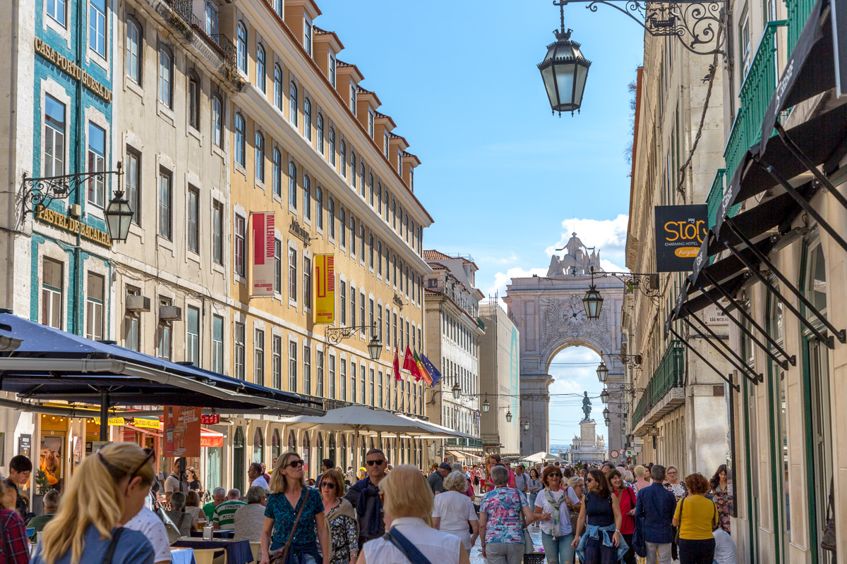 The Rua Augusta is a beautiful, wide, mosaic tiled street closed to traffic and perfect for strolling and shopping. - WCF-4752.jpg