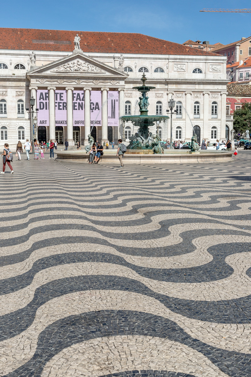 The Rossio is the popular name of the King Pedro IV Square in the city of Lisbon and the true heart of the city with its dizzying stone paving, grand fountains and statue of (supposedly) Dom Pedro IV. - WCF-4833.jpg