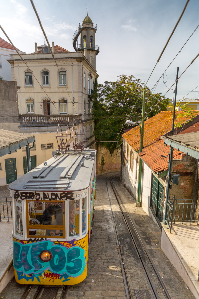 The Ascensor do Lavra (Lavra Funicular), sometimes known as the Elevador do Lavra, is one of several funiculars in Lisbon. - WCF-5792.jpg