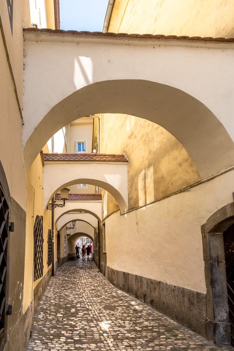 Medieval alley in LjublJana.