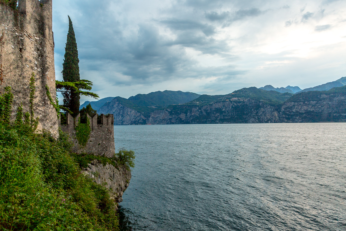 View Lake Garda and part of the Scaliger castle in Malcesine - WCF-6081.jpg