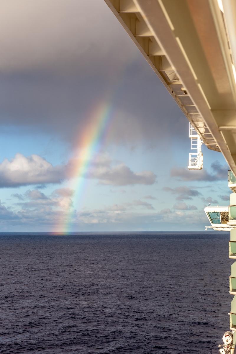 Rainbow at sea - 4887