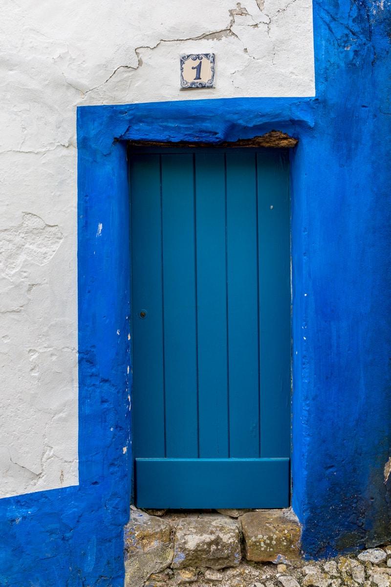 Another door number 1 in Óbidos. - WCF-6506.jpg