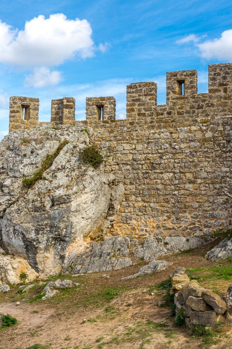 The battlements of the walls that defend Óbidos. - WCF-6583.jpg