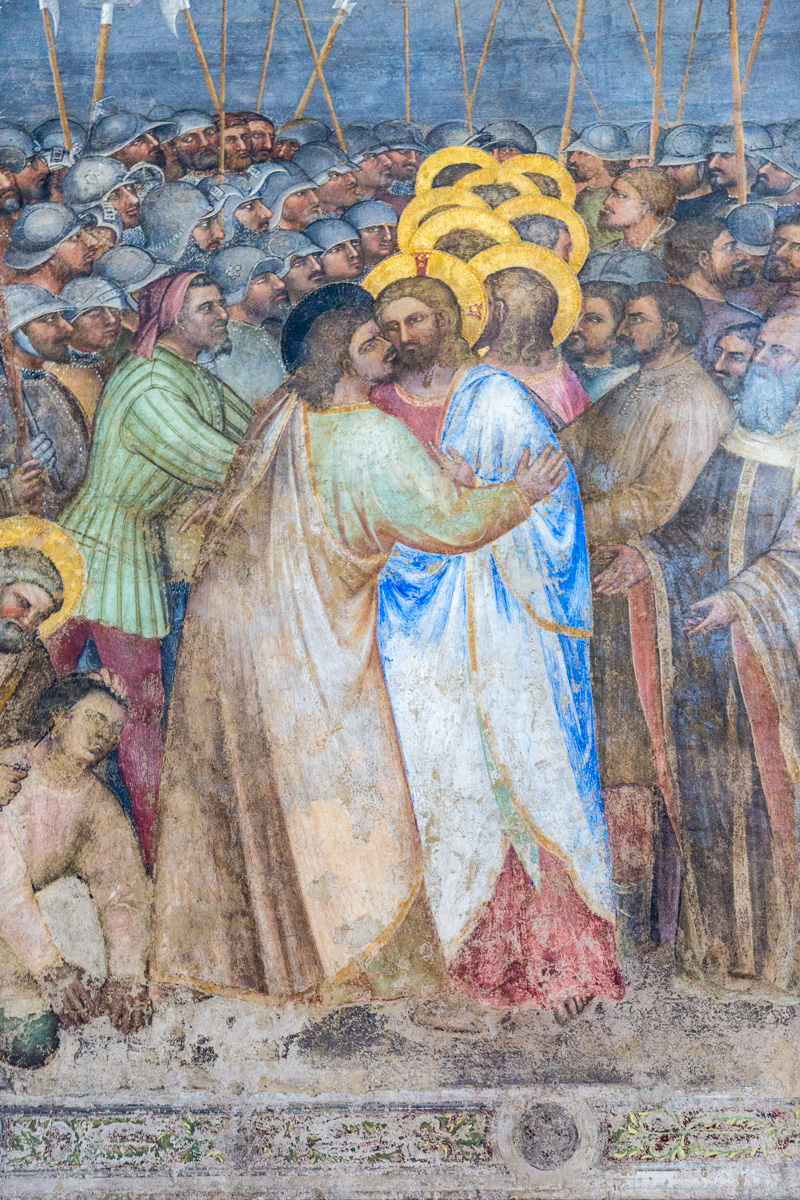 Detail of a fresco showing the kiss of Judas in the Baptistery, Padua (c. 1378) - WCF-7199.jpg