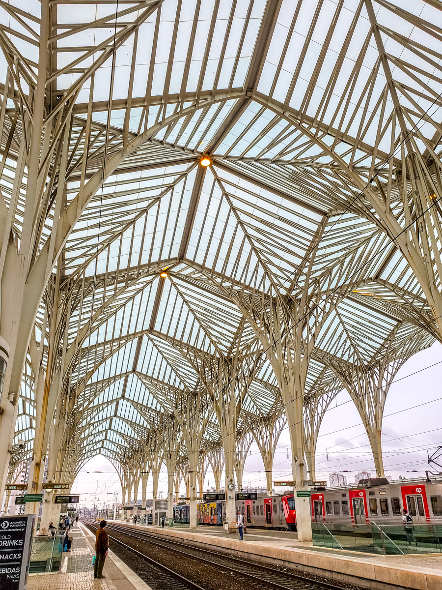 The Lisbon train station was designed by architect Santiago Calatrava who also designed, among other beautiful buildings, the Milwaukee Art Museum (MAM). - WCF-081439.jpg