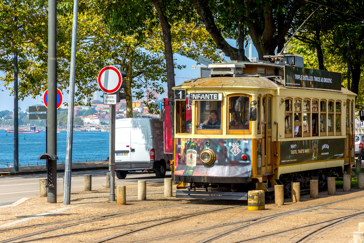 Streetcars or trams provide transportation around Porto for locals as well as tourists on three different lines. - WCF-0065.jpg