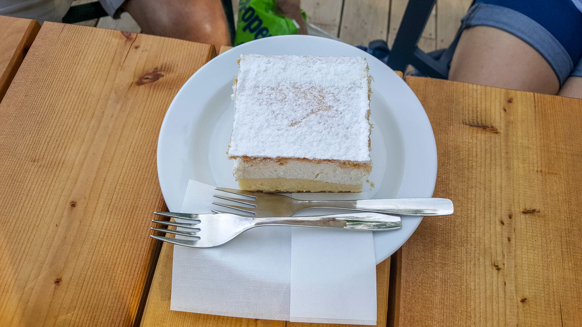 Our reward, a slice of the famous Lake Bled cream cake. - WCF-172446.jpg