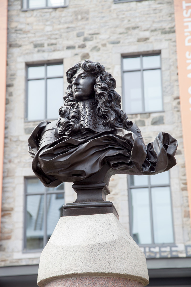 Bronze bust of King Louis XIV , erected in 1686. - WCF-4207.jpg