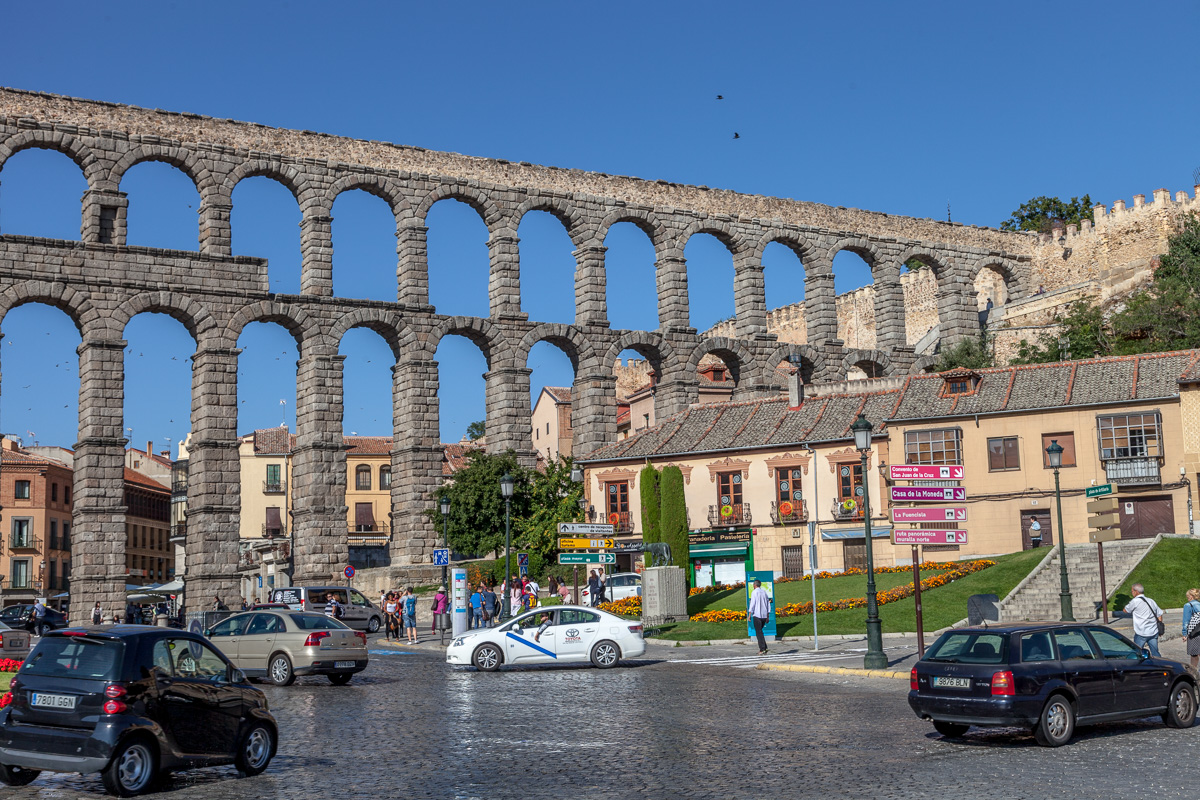 The Roman aqueduct of Segovia
