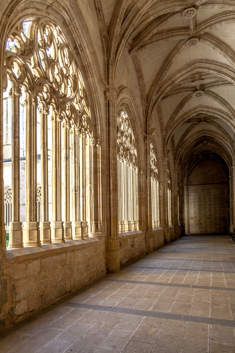 The cloister in the Segovia Cathedral.