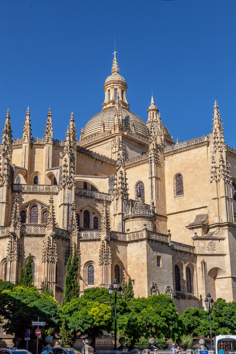 The Catedral de Santa María de Segovia or Segovia Cathedral.